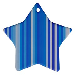 Color Stripes Blue White Pattern Ornament (Star)