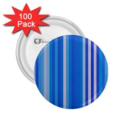 Color Stripes Blue White Pattern 2.25  Buttons (100 pack)