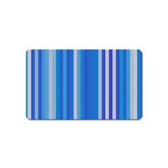 Color Stripes Blue White Pattern Magnet (name Card)