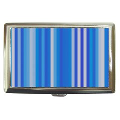 Color Stripes Blue White Pattern Cigarette Money Cases