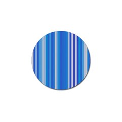 Color Stripes Blue White Pattern Golf Ball Marker (4 pack)