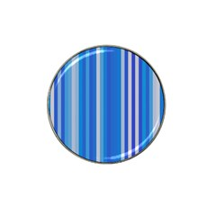 Color Stripes Blue White Pattern Hat Clip Ball Marker (10 pack)