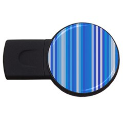 Color Stripes Blue White Pattern USB Flash Drive Round (4 GB)