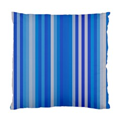 Color Stripes Blue White Pattern Standard Cushion Case (Two Sides)