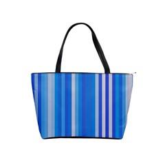 Color Stripes Blue White Pattern Shoulder Handbags