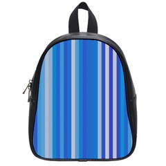 Color Stripes Blue White Pattern School Bags (Small)