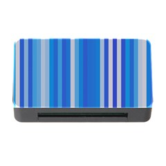 Color Stripes Blue White Pattern Memory Card Reader with CF