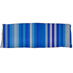 Color Stripes Blue White Pattern Body Pillow Case Dakimakura (Two Sides)