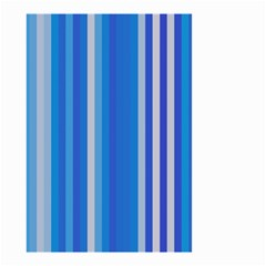 Color Stripes Blue White Pattern Small Garden Flag (two Sides)