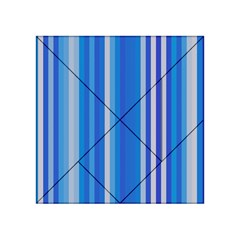 Color Stripes Blue White Pattern Acrylic Tangram Puzzle (4  X 4 )