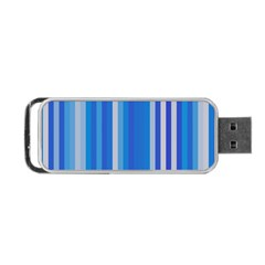 Color Stripes Blue White Pattern Portable USB Flash (Two Sides)