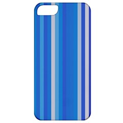 Color Stripes Blue White Pattern Apple iPhone 5 Classic Hardshell Case