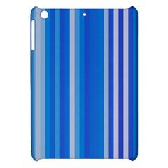 Color Stripes Blue White Pattern Apple iPad Mini Hardshell Case