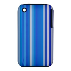 Color Stripes Blue White Pattern Iphone 3s/3gs