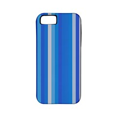 Color Stripes Blue White Pattern Apple iPhone 5 Classic Hardshell Case (PC+Silicone)