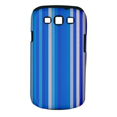 Color Stripes Blue White Pattern Samsung Galaxy S III Classic Hardshell Case (PC+Silicone)