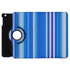 Color Stripes Blue White Pattern Apple iPad Mini Flip 360 Case