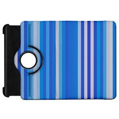 Color Stripes Blue White Pattern Kindle Fire HD 7