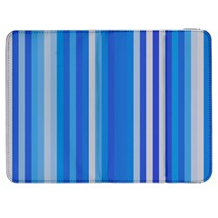 Color Stripes Blue White Pattern Samsung Galaxy Tab 7  P1000 Flip Case