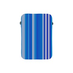 Color Stripes Blue White Pattern Apple iPad Mini Protective Soft Cases