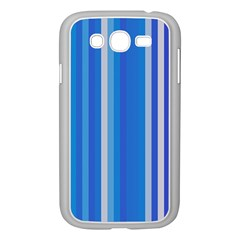 Color Stripes Blue White Pattern Samsung Galaxy Grand DUOS I9082 Case (White)