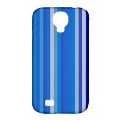 Color Stripes Blue White Pattern Samsung Galaxy S4 Classic Hardshell Case (pc+silicone)