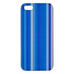 Color Stripes Blue White Pattern iPhone 5S/ SE Premium Hardshell Case