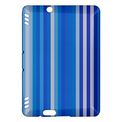Color Stripes Blue White Pattern Kindle Fire HDX Hardshell Case