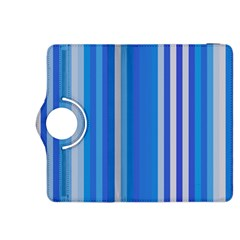 Color Stripes Blue White Pattern Kindle Fire HDX 8.9  Flip 360 Case