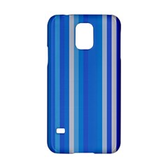 Color Stripes Blue White Pattern Samsung Galaxy S5 Hardshell Case
