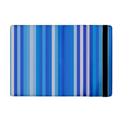 Color Stripes Blue White Pattern iPad Mini 2 Flip Cases