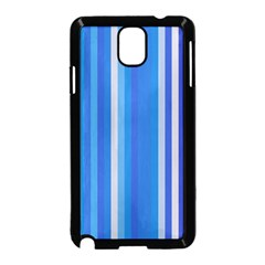 Color Stripes Blue White Pattern Samsung Galaxy Note 3 Neo Hardshell Case (Black)