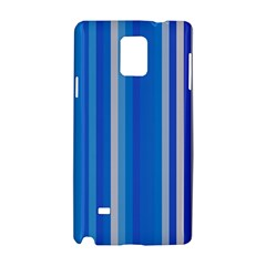 Color Stripes Blue White Pattern Samsung Galaxy Note 4 Hardshell Case