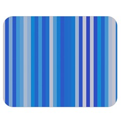 Color Stripes Blue White Pattern Double Sided Flano Blanket (Medium)