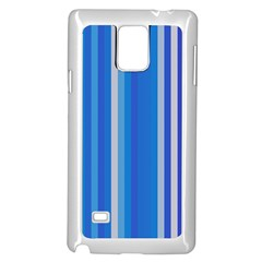 Color Stripes Blue White Pattern Samsung Galaxy Note 4 Case (white)