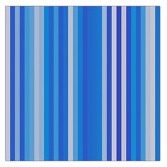 Color Stripes Blue White Pattern Large Satin Scarf (square)