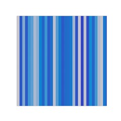 Color Stripes Blue White Pattern Small Satin Scarf (Square)