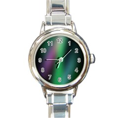 Course Gradient Color Pattern Round Italian Charm Watch