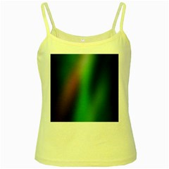 Course Gradient Color Pattern Yellow Spaghetti Tank