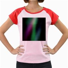 Course Gradient Color Pattern Women s Cap Sleeve T-Shirt