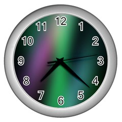 Course Gradient Color Pattern Wall Clocks (Silver)