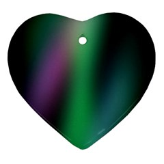 Course Gradient Color Pattern Heart Ornament (two Sides)