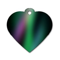 Course Gradient Color Pattern Dog Tag Heart (One Side)