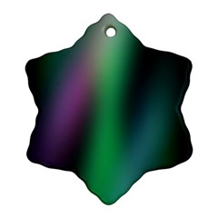 Course Gradient Color Pattern Snowflake Ornament (Two Sides)