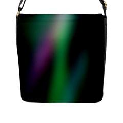 Course Gradient Color Pattern Flap Messenger Bag (L)
