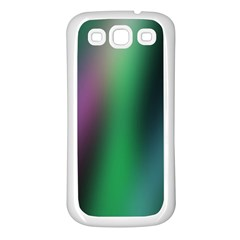 Course Gradient Color Pattern Samsung Galaxy S3 Back Case (White)