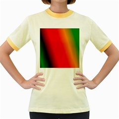Multi Color Pattern Background Women s Fitted Ringer T-Shirts