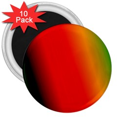 Multi Color Pattern Background 3  Magnets (10 pack)