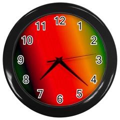 Multi Color Pattern Background Wall Clocks (Black)