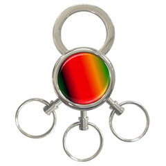 Multi Color Pattern Background 3-Ring Key Chains